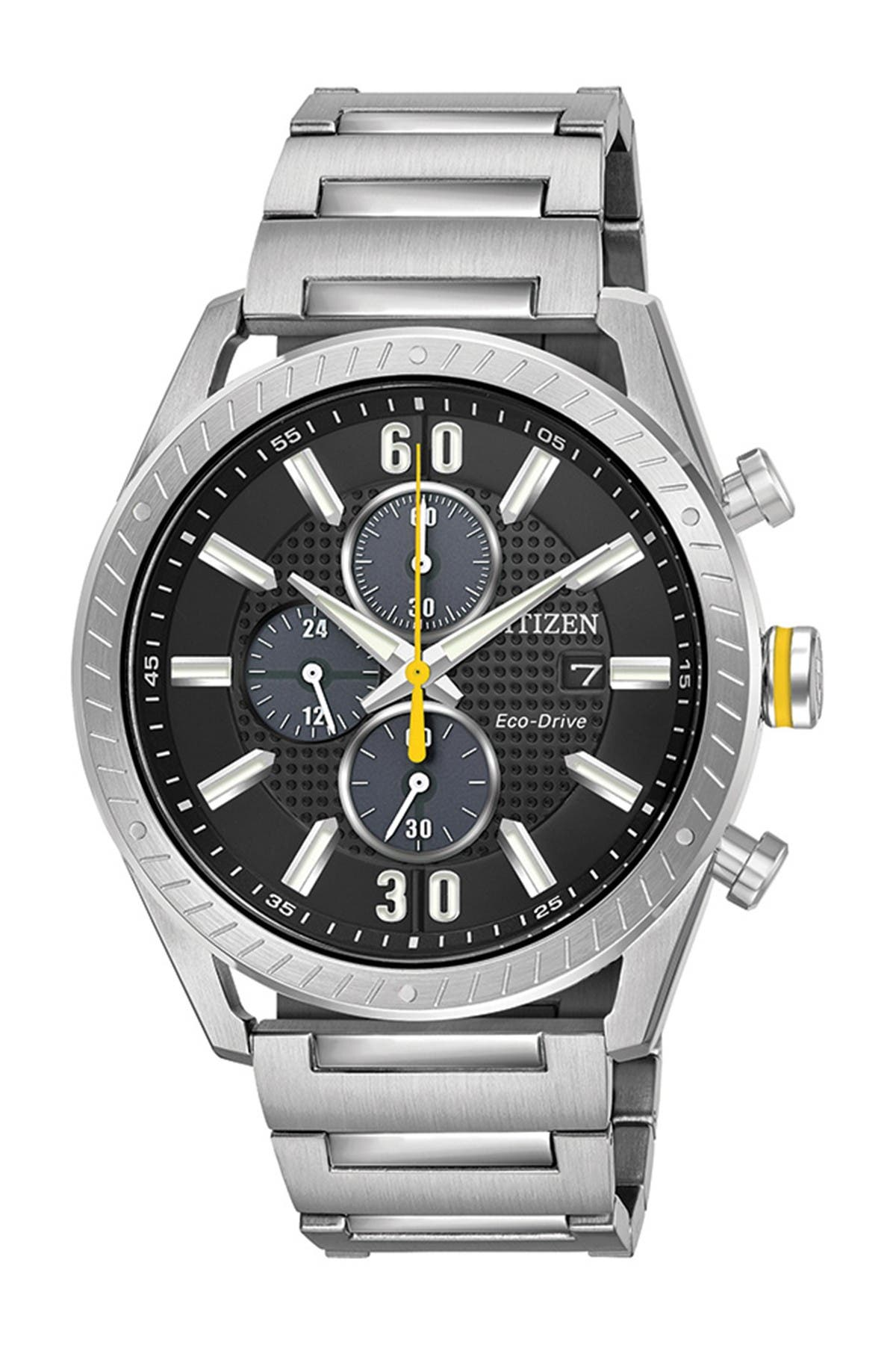Image of Citizen Men's Standard Stainless Steel Eco-Drive Watch, 43mm