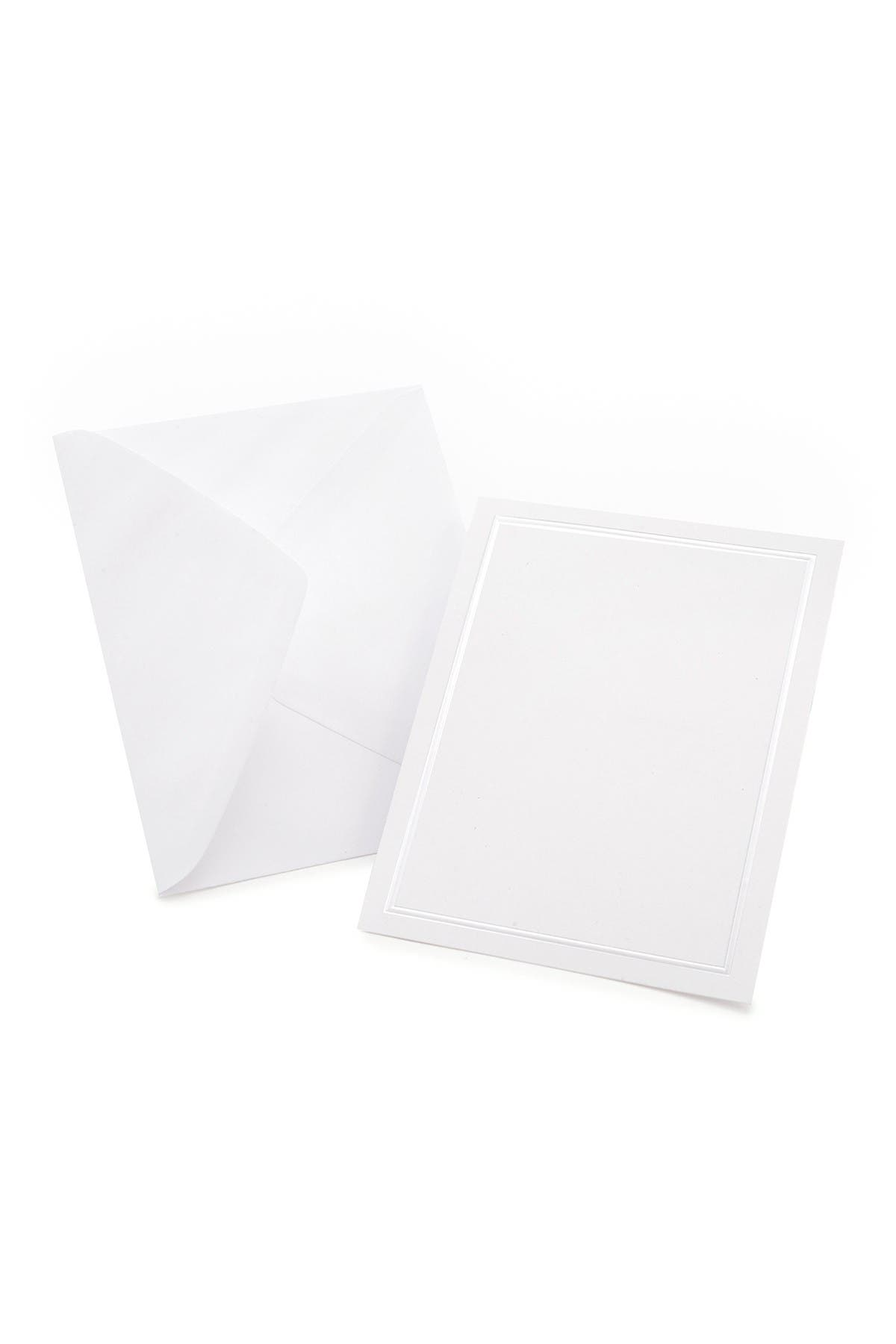 Image of GARTNER STUDIOS White Pearl Border All Purpose Blank Cards - Set of 50
