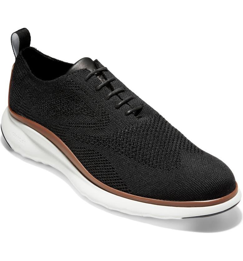 COLE HAAN 3.ZERØGRAND StitchLite Wingtip Sneaker, Main, color, BLACK KNIT