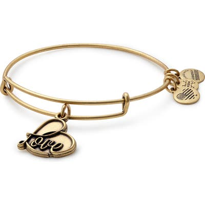 Alex And Ani Love Expandable Charm Bracelet