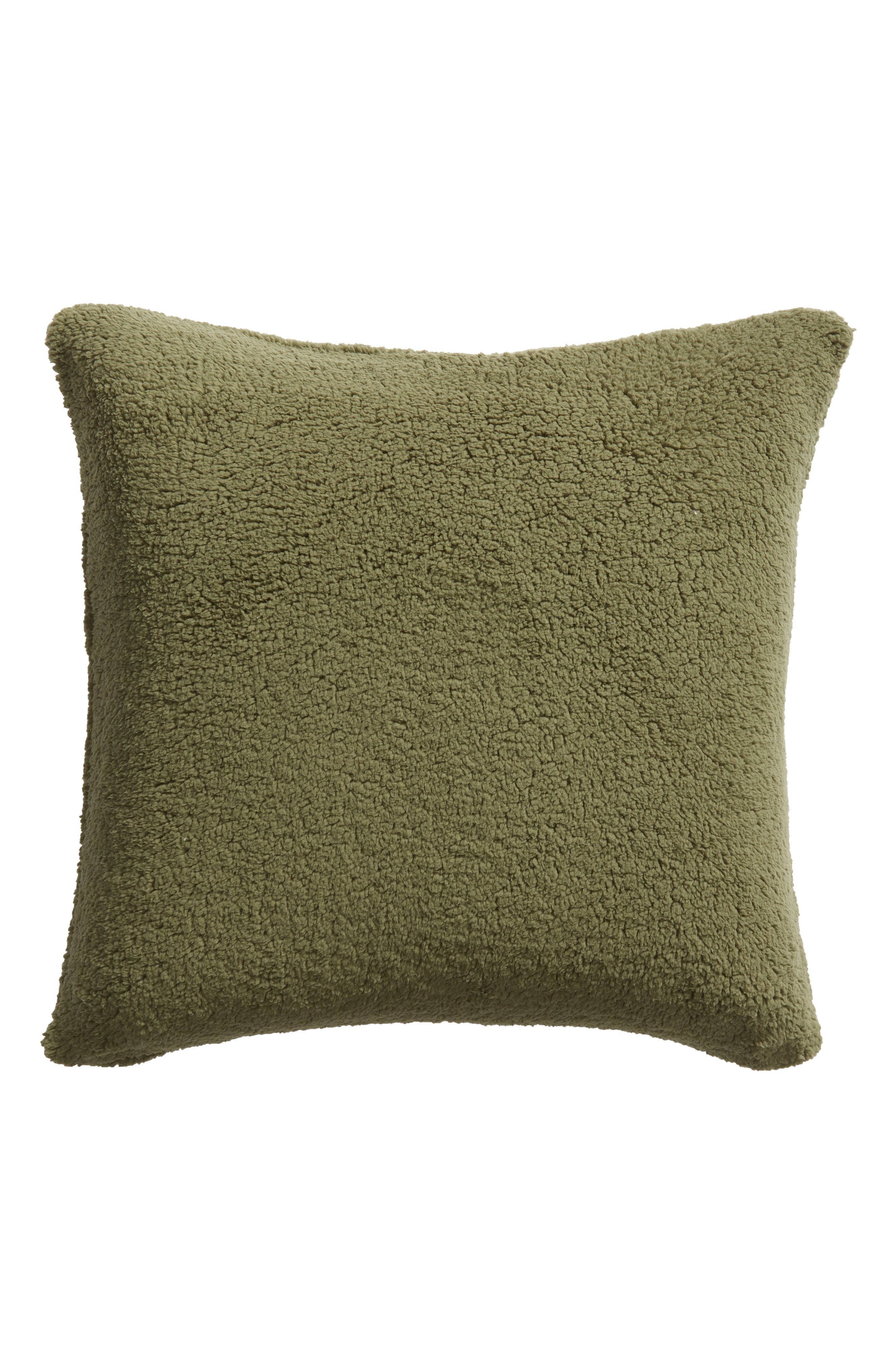 ,                             Faux Shearling Accent Pillow,                             Alternate thumbnail 2, color,                             GREEN SORREL