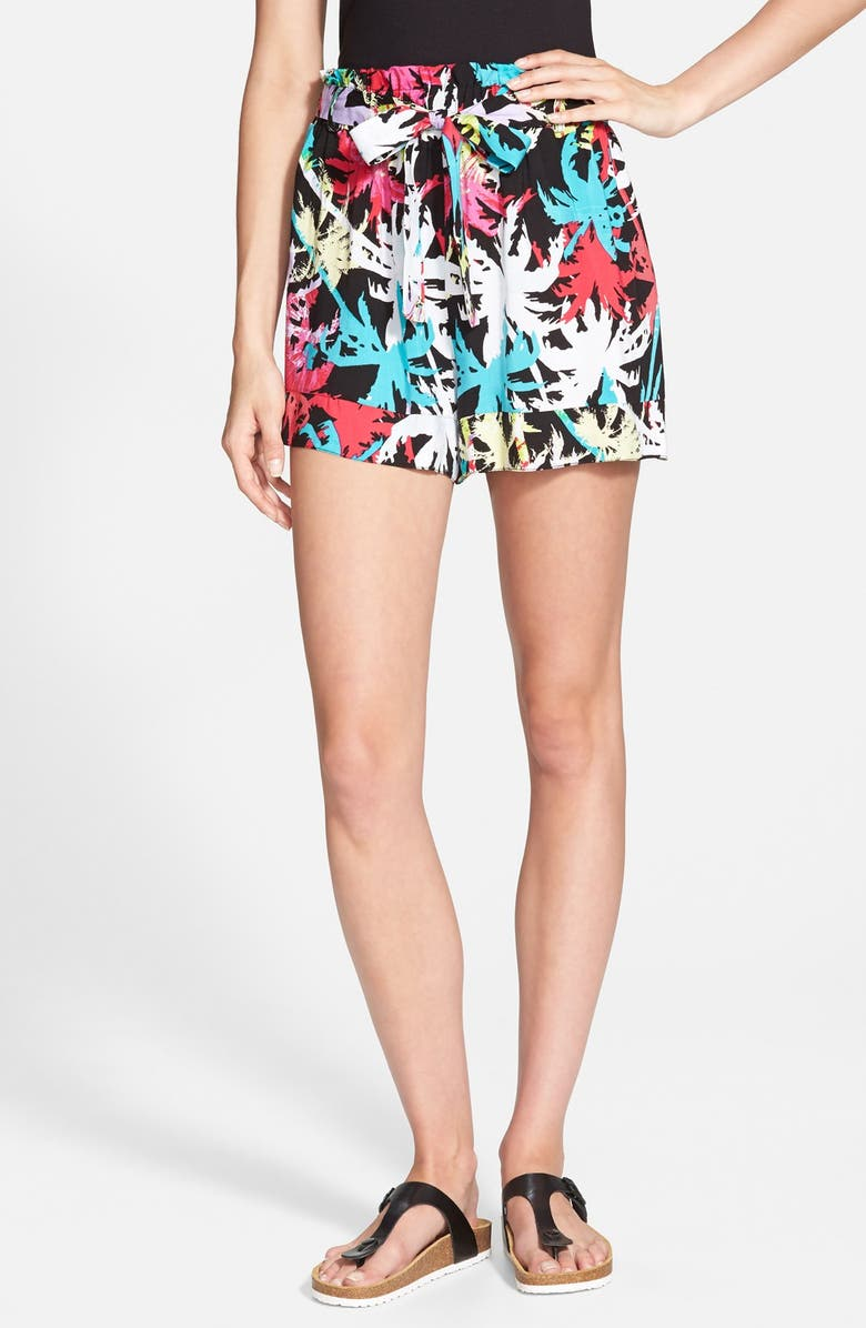 LILY WHITE Tie Waist Shorts, Main, color, 005