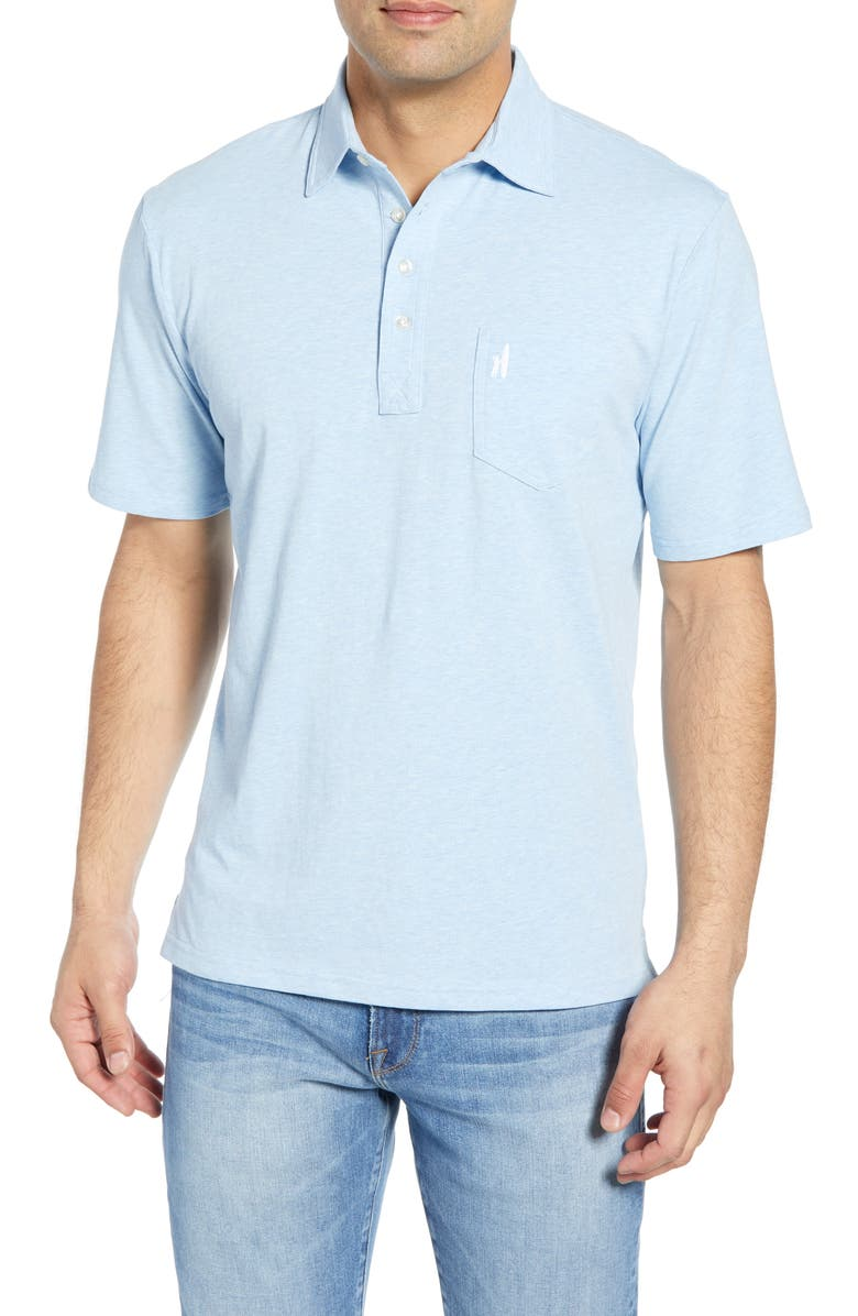 JOHNNIE-O Classic Fit Heathered Polo, Main, color, GULF BLUE
