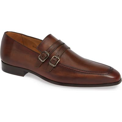 Mezlan Callas Double Buckle Loafer, Brown