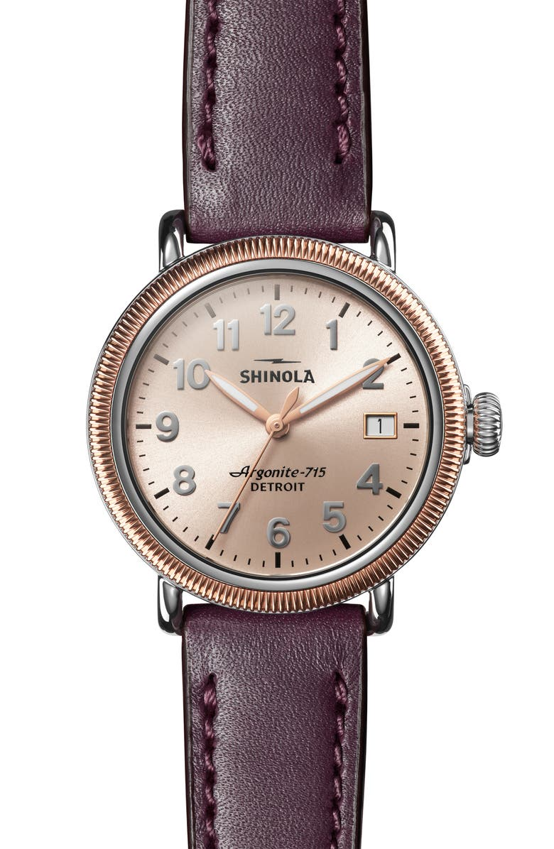 Shinola The Runwell Leather Strap Watch 38mm