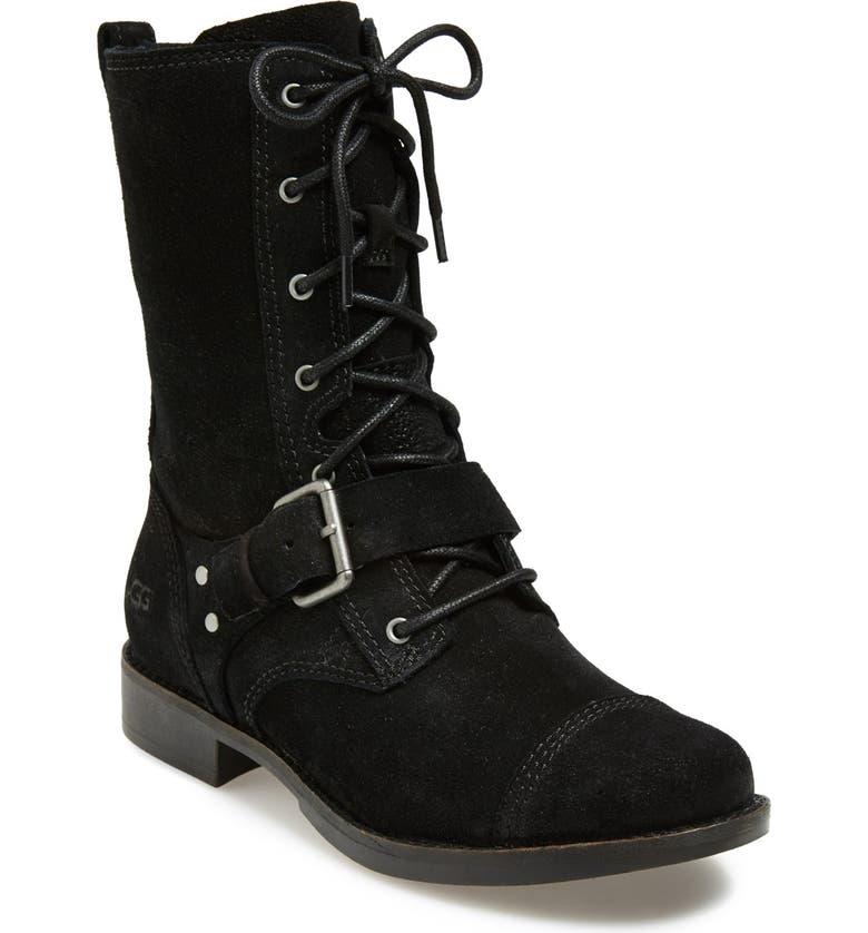 UGG<SUP>®</SUP> Australia 'Marela' Convertible Combat Boot, Main, color, Black
