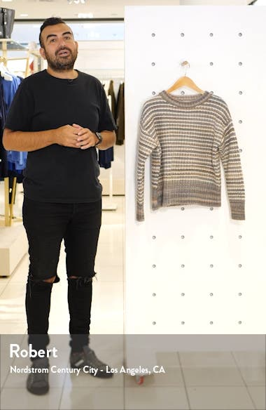 Stripe Wool Blend Pullover, sales video thumbnail