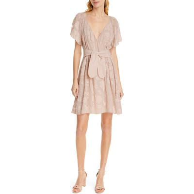 Joie Leighan Burnout Faux Wrap Dress, Pink