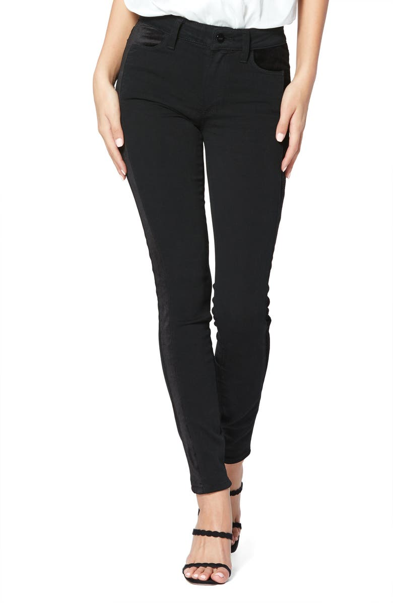 PAIGE Transcend - Hoxton High Waist Ultra Skinny Jeans, Main, color, VELVET ONYX