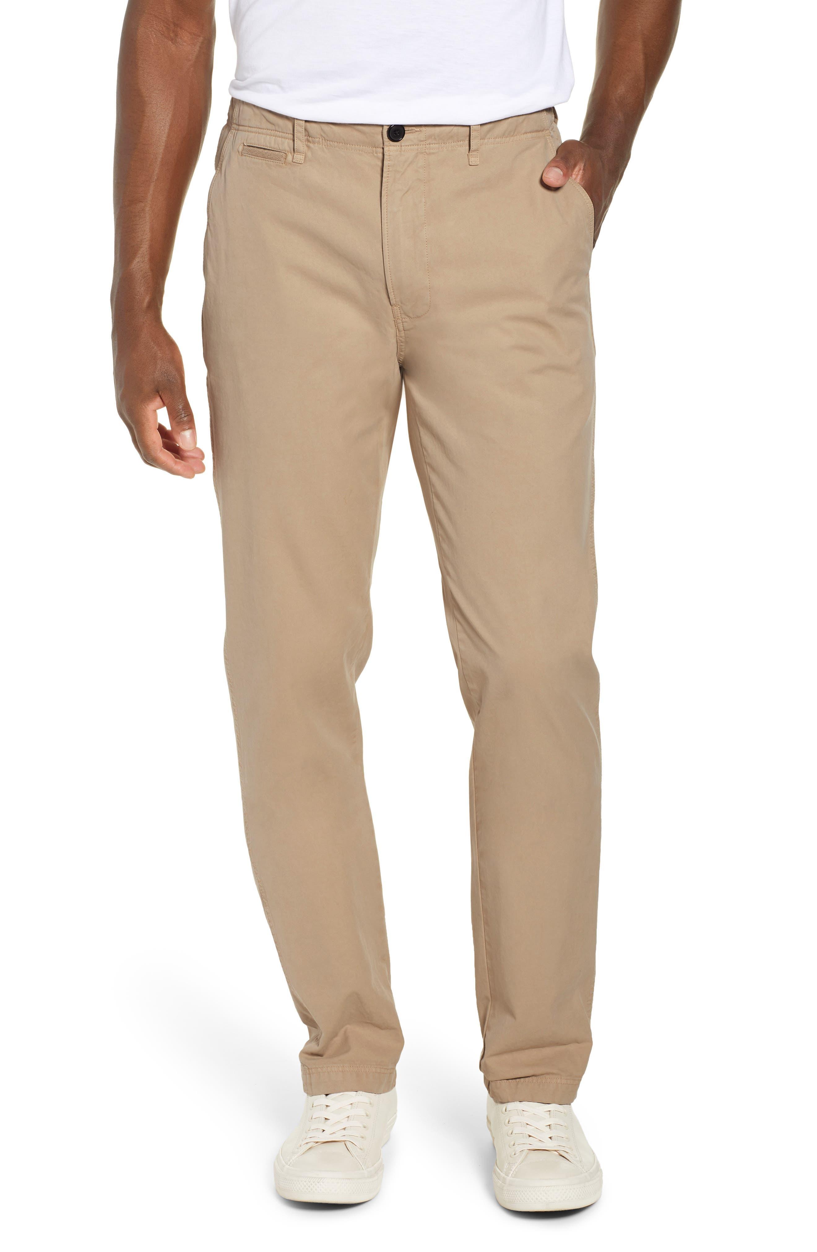 Straight Leg Pima Cotton Chinos, Main, color, KHAKI