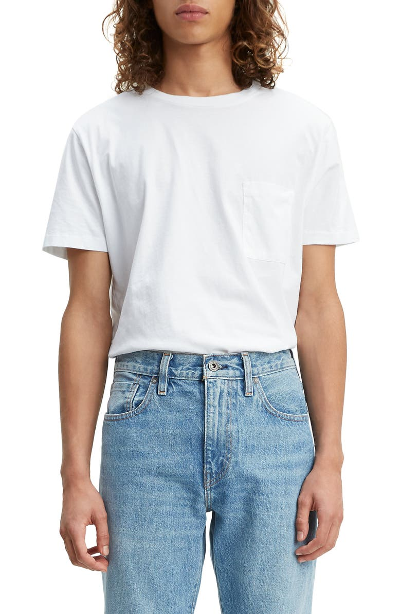 LEVI'S<SUP>®</SUP> MADE & CRAFTED<SUP>™</SUP> Regular Fit Pocket T-Shirt, Main, color, ECRU