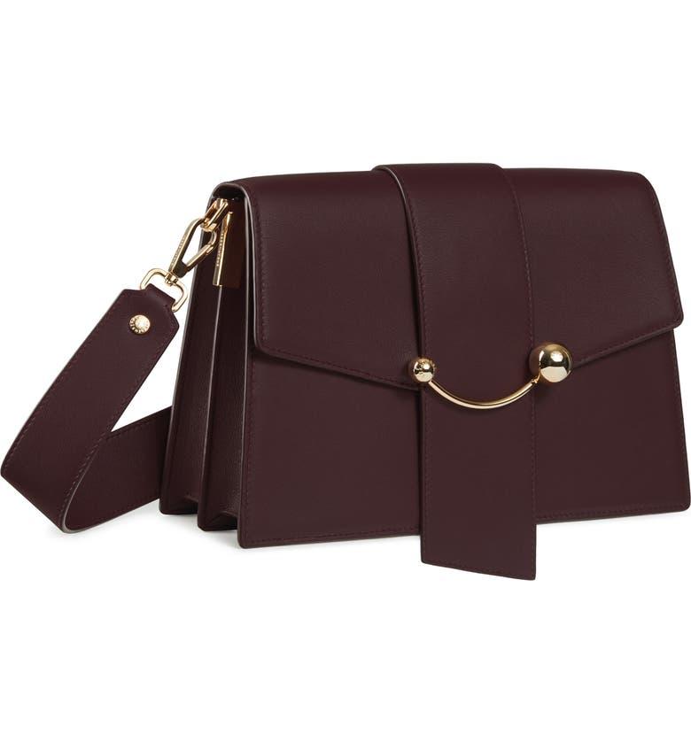 STRATHBERRY Crescent Leather Shoulder Bag, Main, color, 930
