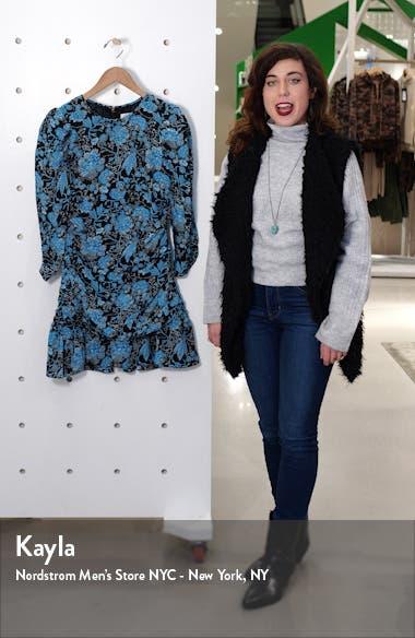 Raven Floral Silk Minidress, sales video thumbnail