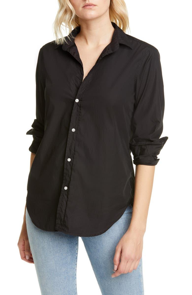 FRANK & EILEEN Frank Superfine Cotton Shirt, Main, color, BLACK SUPER FINE