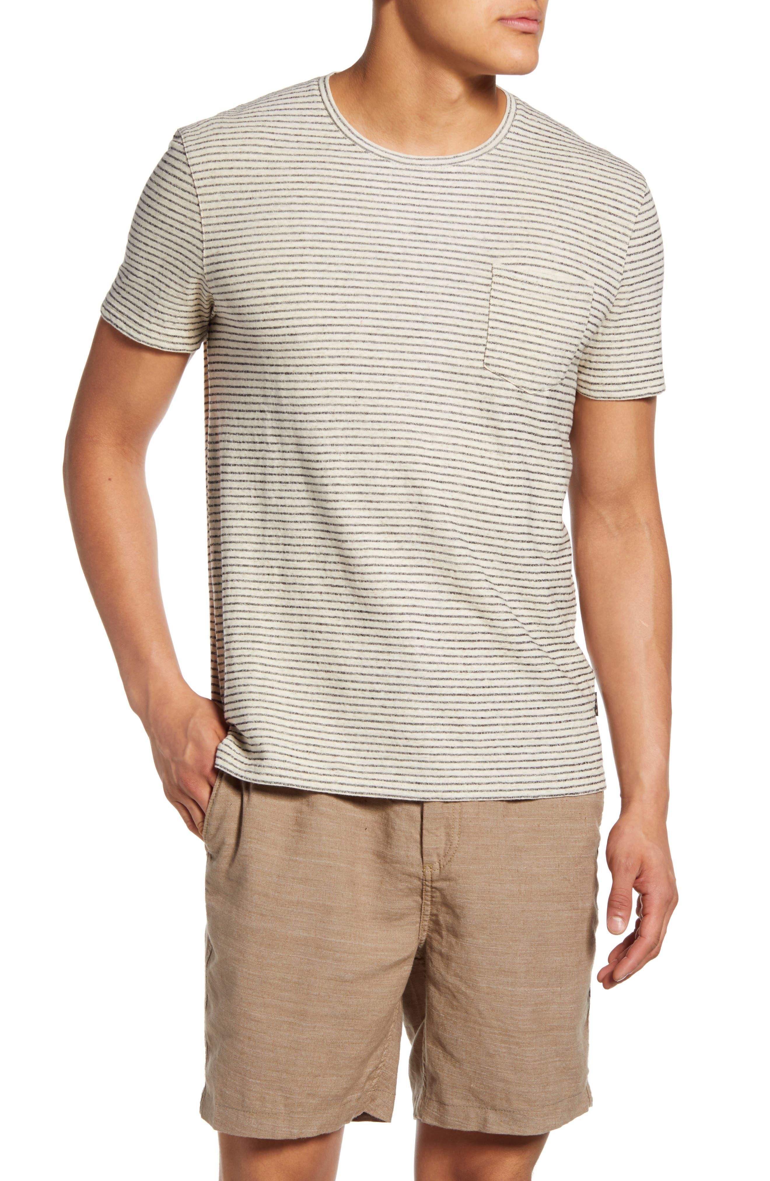 Men's John Varvatos Star Usa Emmett Stripe Pocket T-Shirt