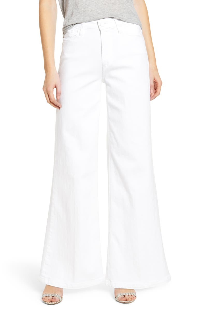 PAIGE Sutton High Waist Wide Leg Jeans, Main, color, 100