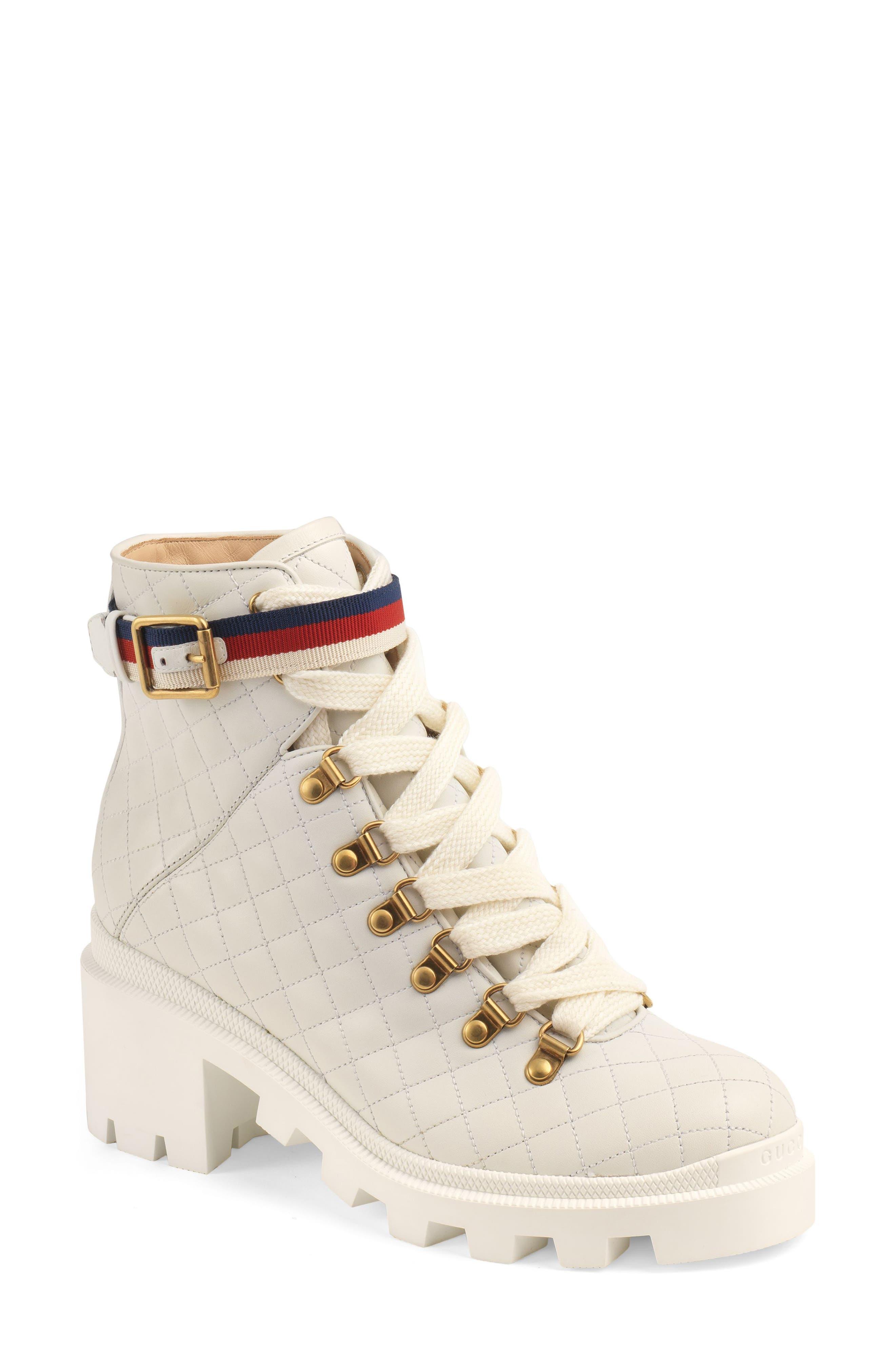 Gucci Trip Hiker Boot, White