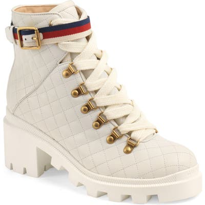 Gucci Trip Hiker Boot, White
