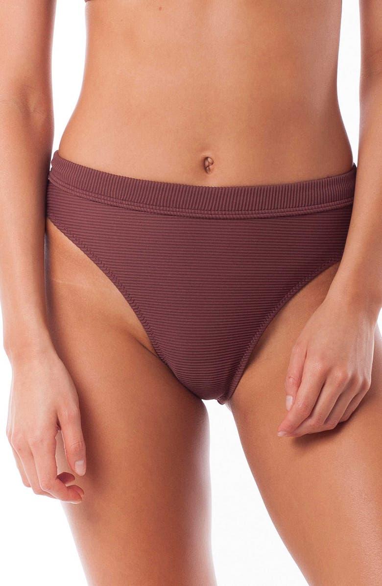 RHYTHM Palm Springs Xanadu Bikini Bottoms, Main, color, MULBERRY