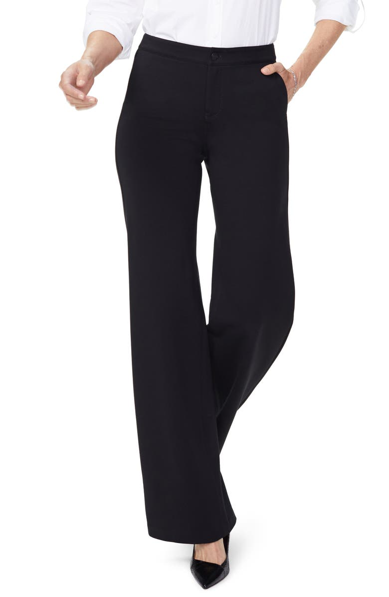 NYDJ Teresa Wide Leg Pants, Main, color, BLACK