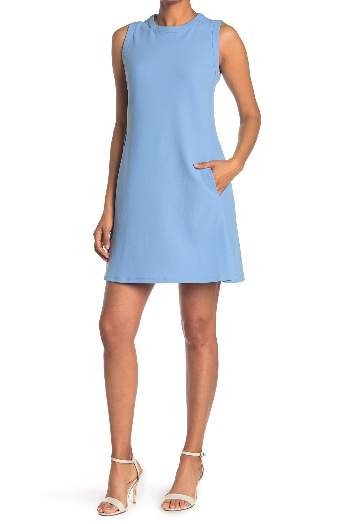 Image of Donna Morgan Jewel Neck Mini Shift Dress