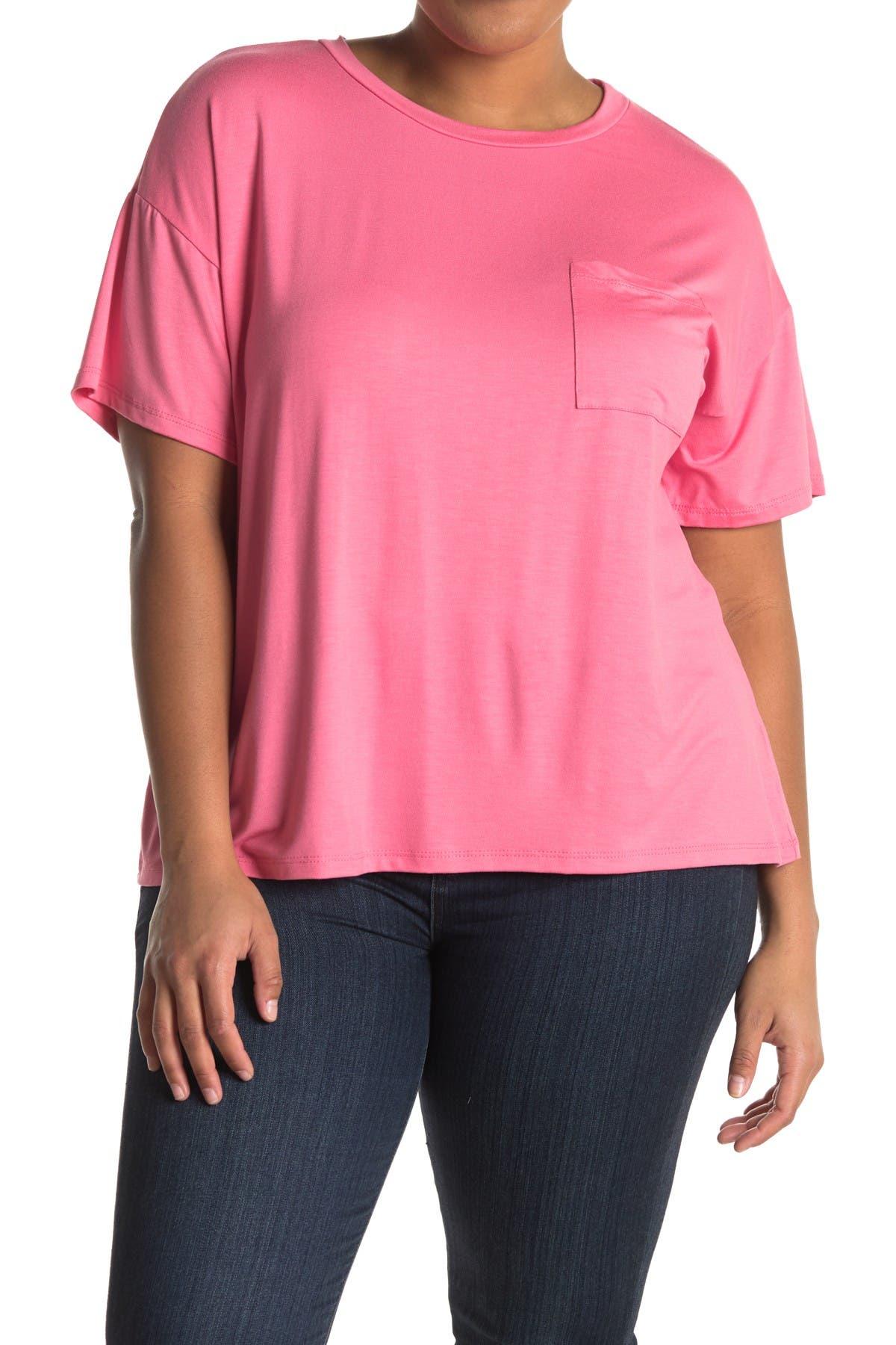Image of Lush Crew Neck Short Sleeve Pocket T-Shirt