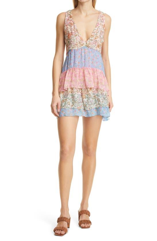 Ramy Brook Mini dresses GIGI TIERED FLORAL PRINT MINIDRESS