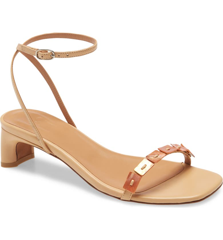 LOQ Perla Ankle Strap Sandal, Main, color, DUNE LEATHER