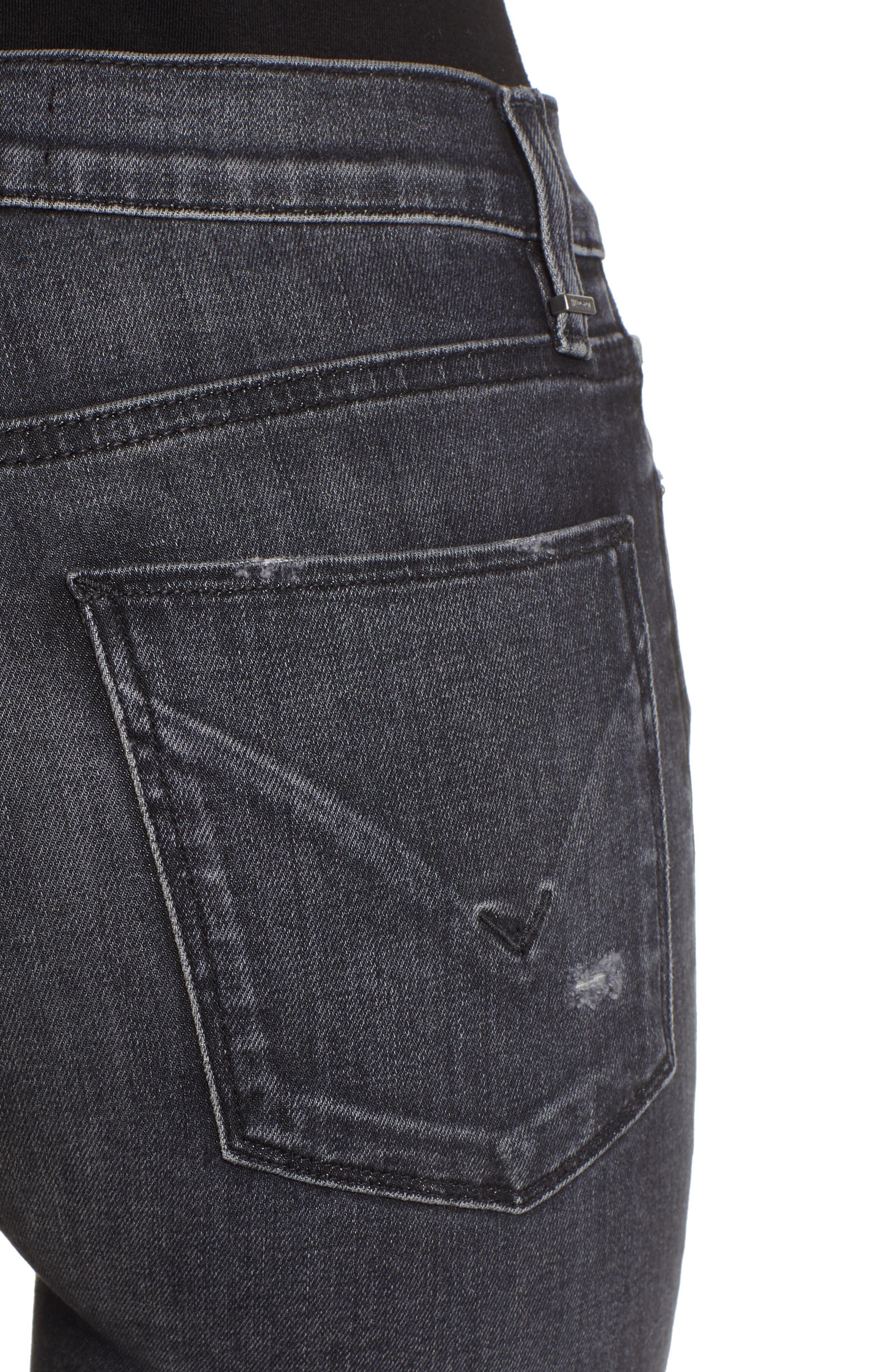 ,                             Barbara Distressed High Waist Ankle Skinny Jeans,                             Alternate thumbnail 5, color,                             WORN KONA