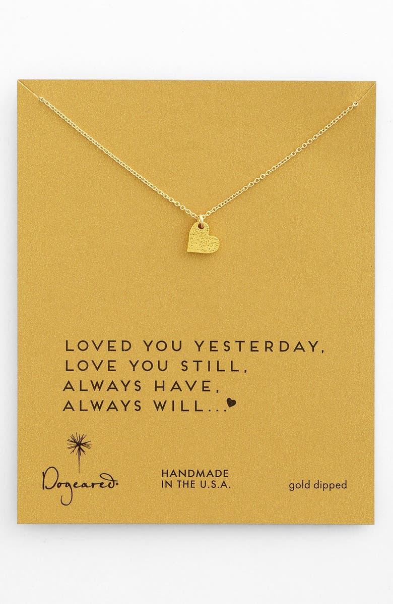 DOGEARED 'Sparkle Heart' Boxed Pendant Necklace, Main, color, 710