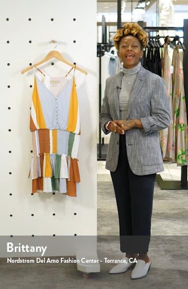 Portia Smocked Waist Minidress, sales video thumbnail