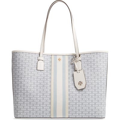 Tory Burch Gemini Link Coated Canvas Tote - Ivory