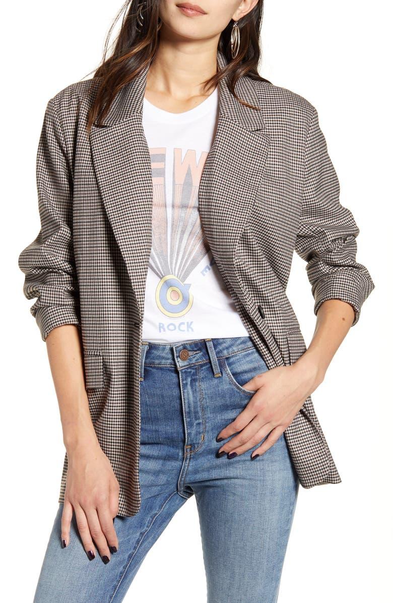 TREASURE & BOND Oversize Blazer, Main, color, BEIGE- BLACK FRANK CHECK