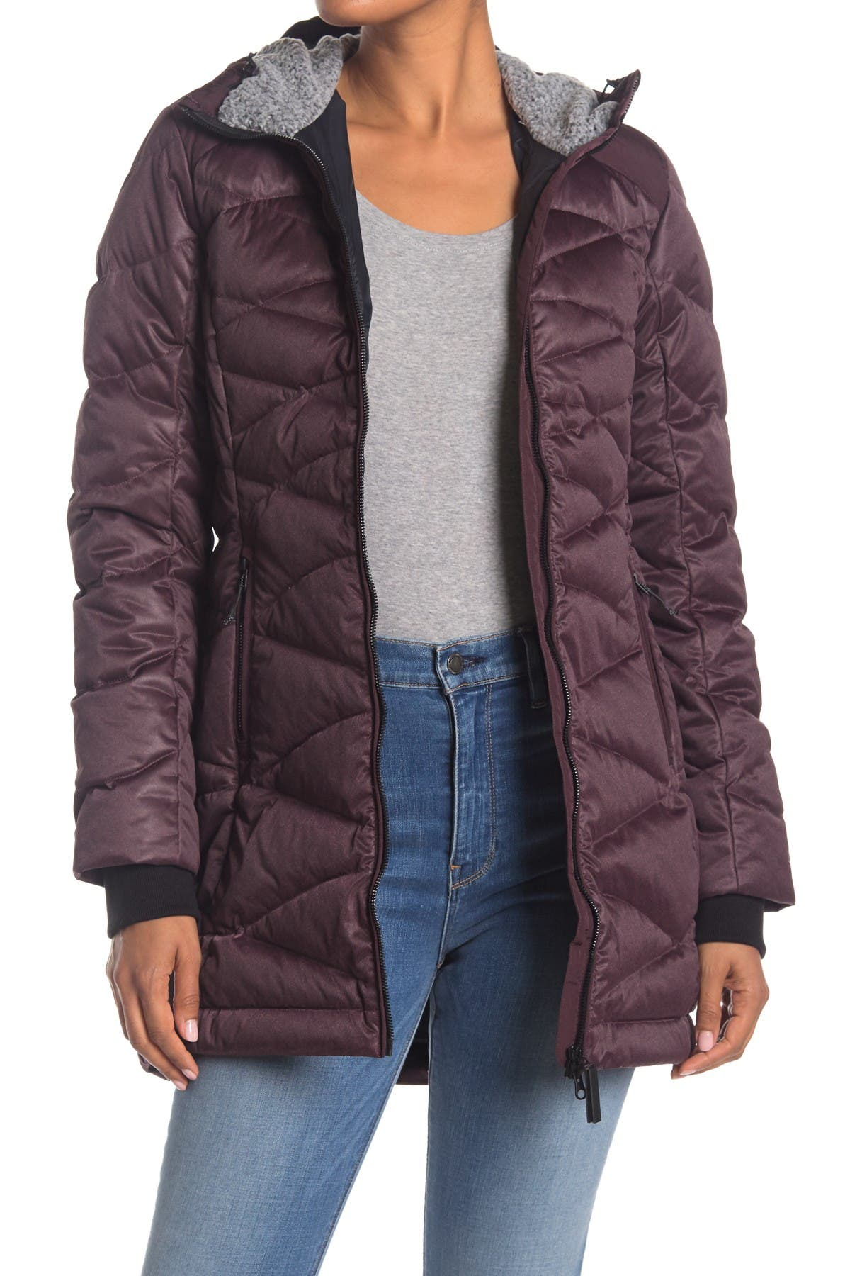 Image of Lole Faith Faux Fur Lined Hood Quilted Down Jacket