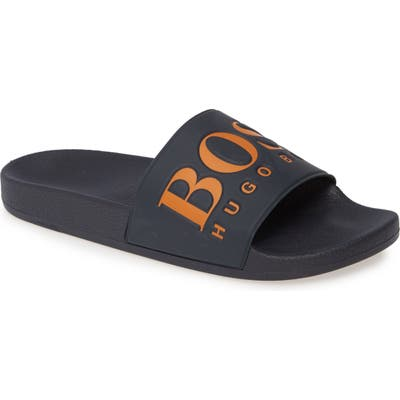 Boss Solar Slide Sandal, Blue