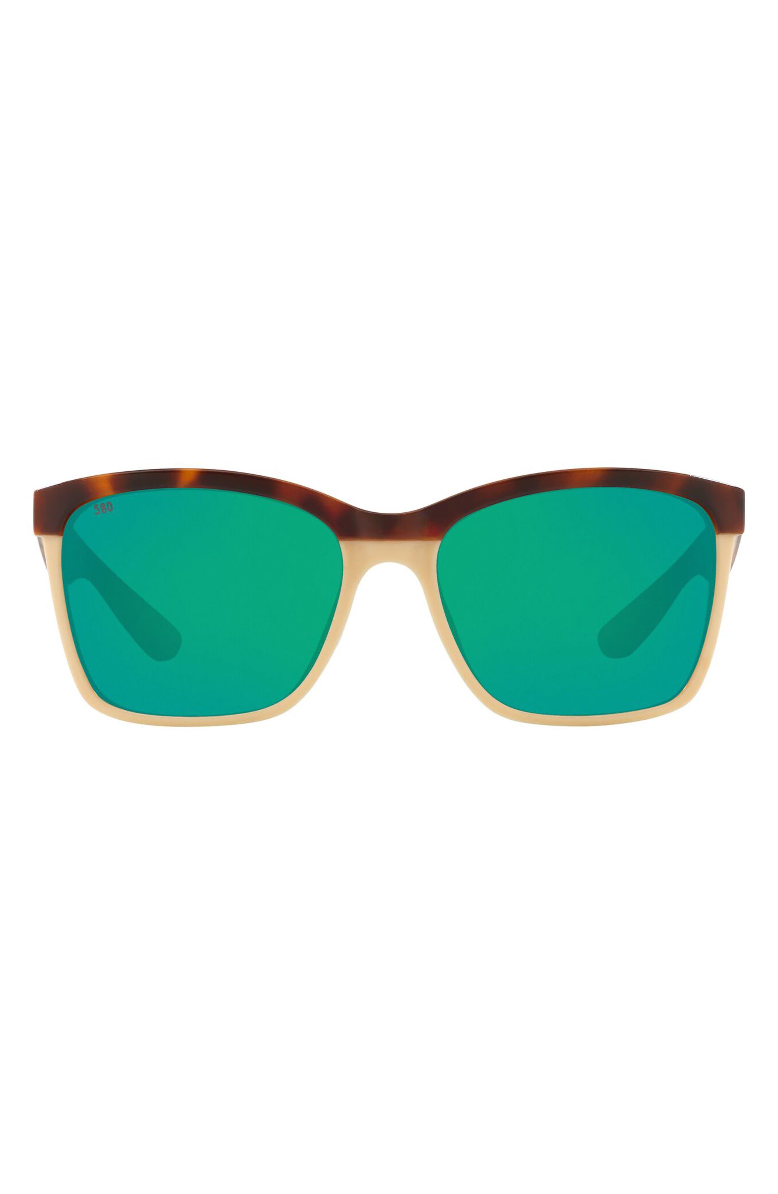 55mm Polarized Square Sunglasses