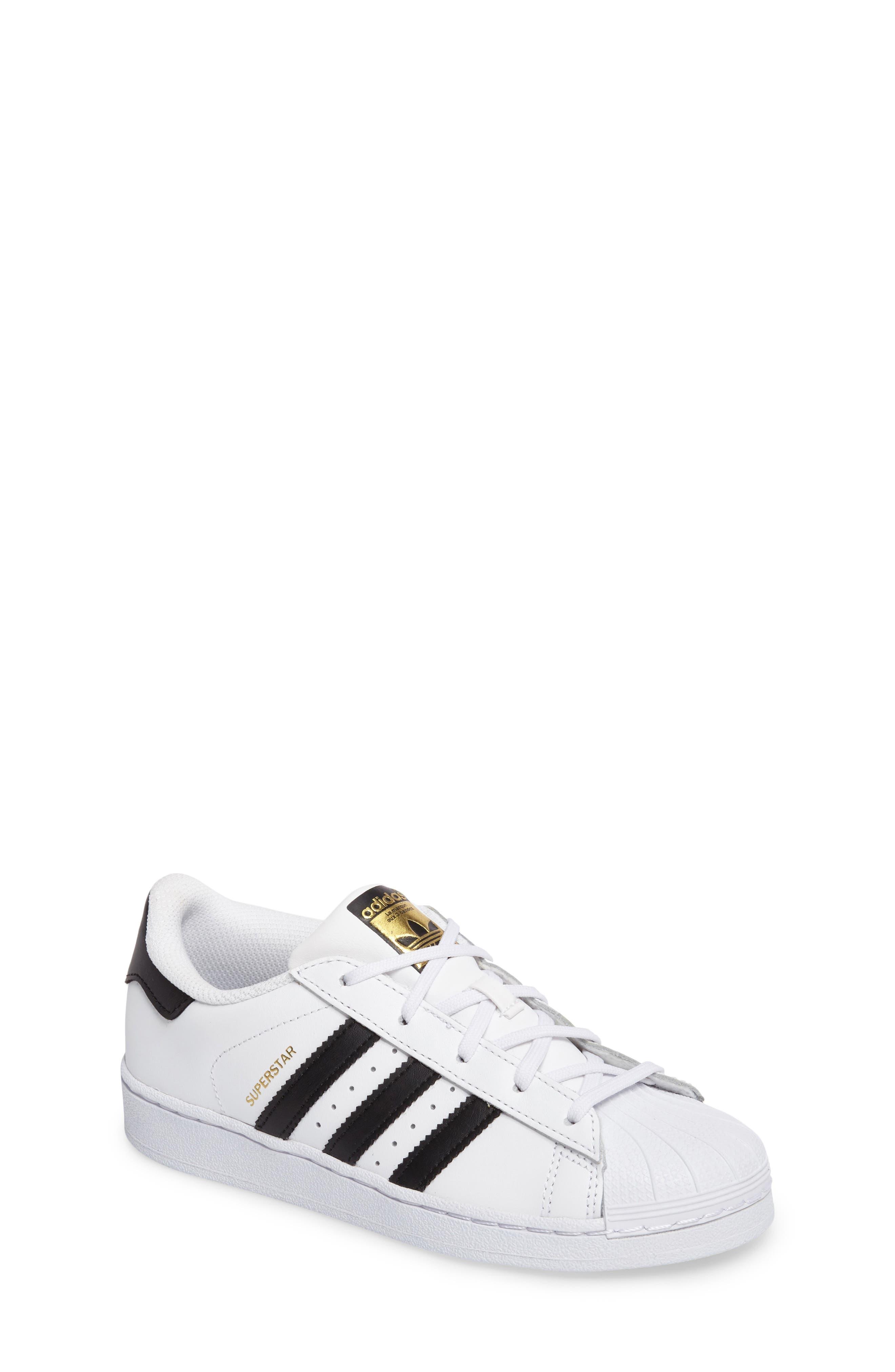 'Superstar Foundation' Sneaker, Main, color, WHITE/ BLACK
