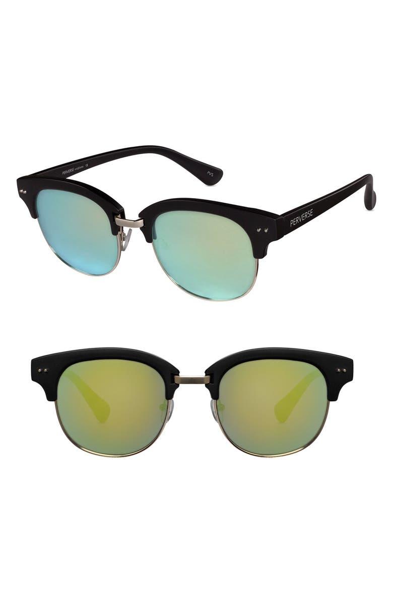 PERVERSE Marley 57mm Sunglasses, Main, color, 001