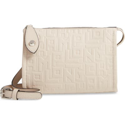 Longchamp La Voyageuse Leather Crossbody Bag - Beige