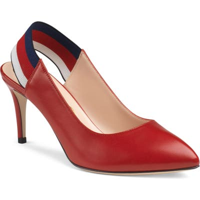Gucci Sylvie Slingback Pump, Red