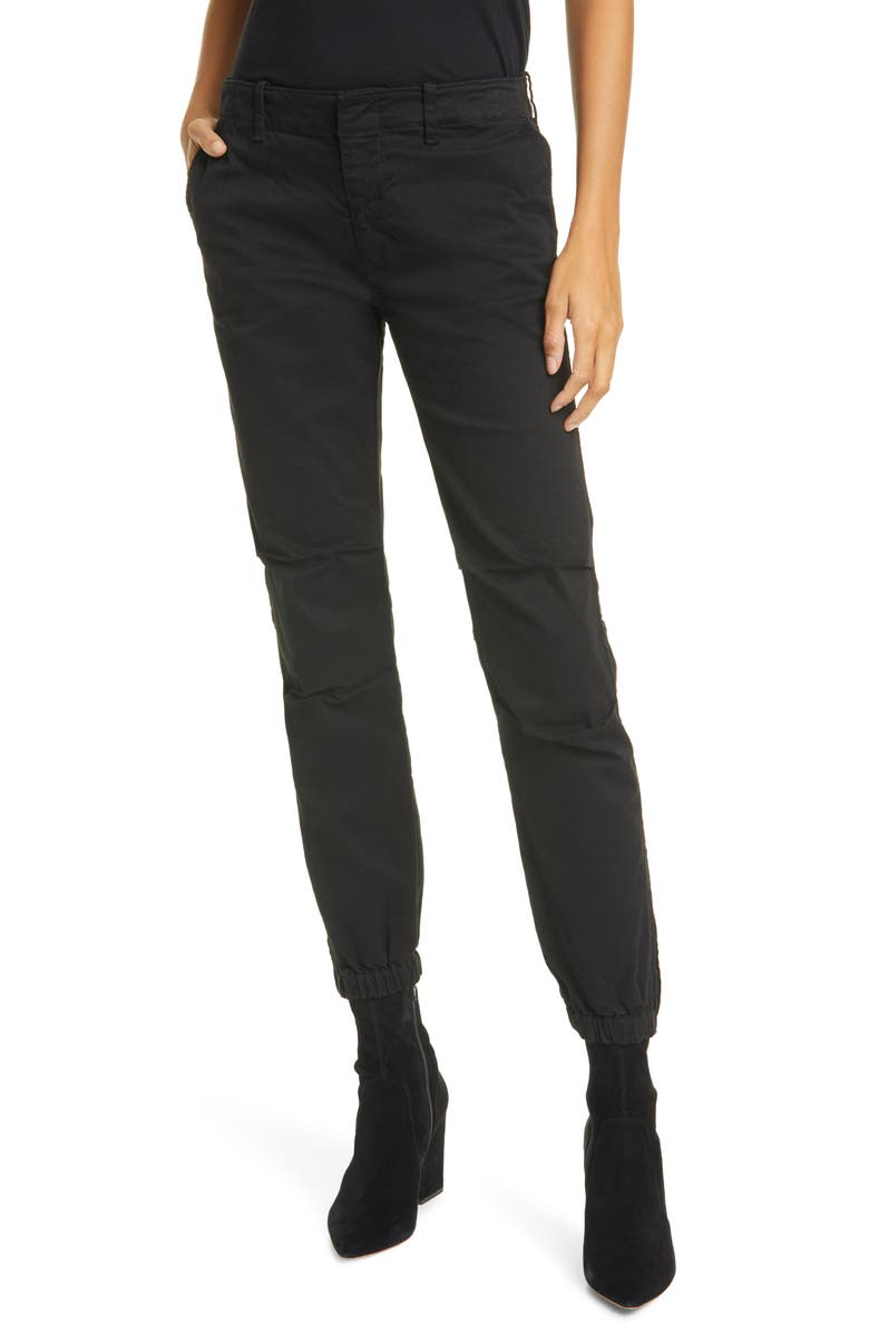 NILI LOTAN French Military Pants, Main, color, JET BLACK
