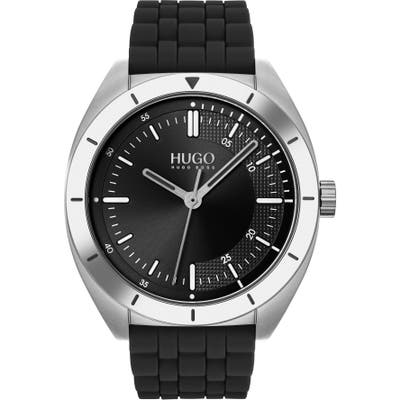 Hugo Style Rubber Strap Watch, 42Mm