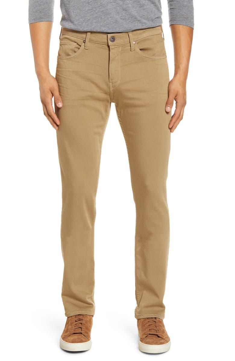 PAIGE Transcend Lennox Slim Fit Jeans, Main, color, GOLDEN ELM