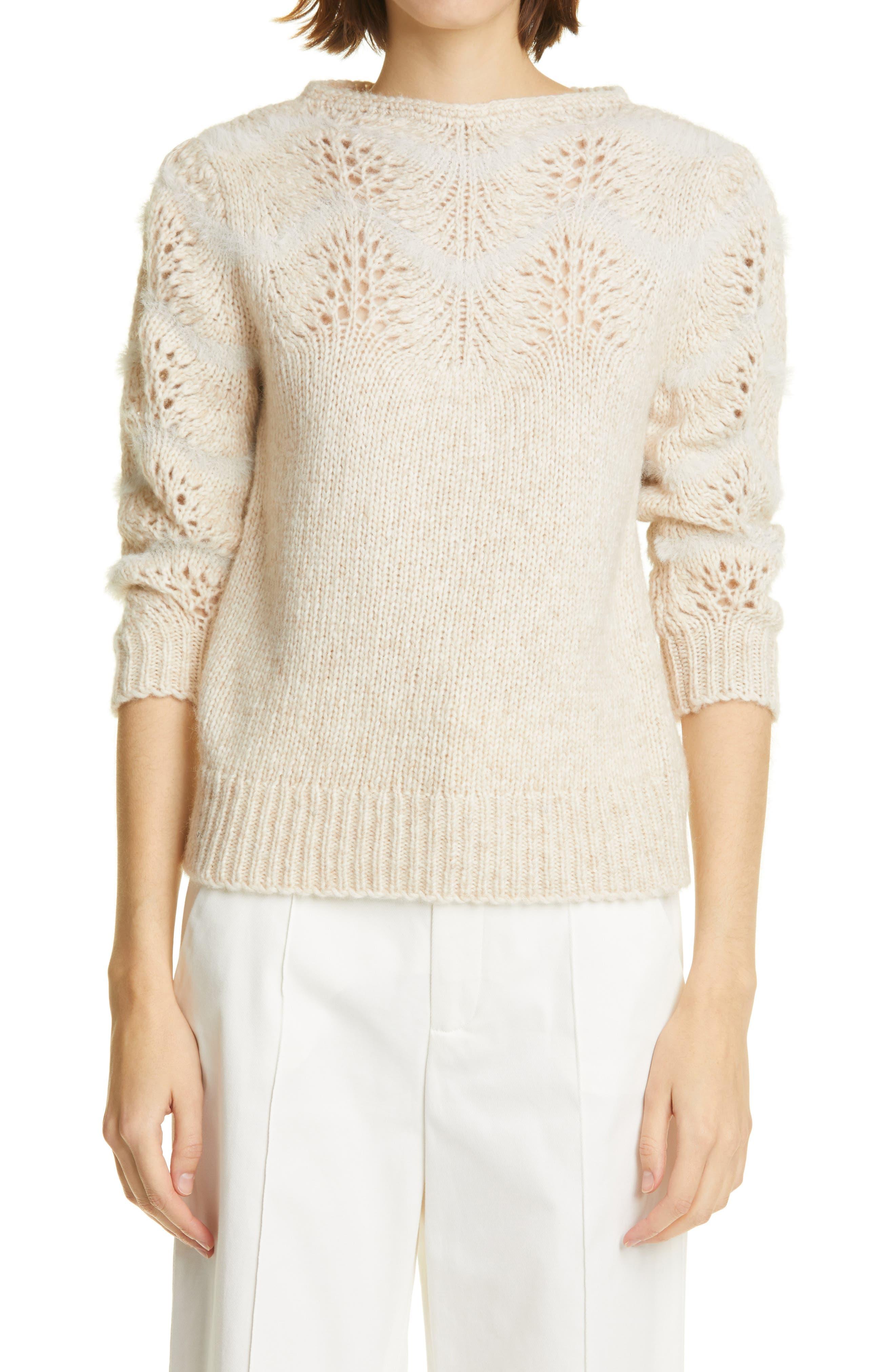 Philemon Pointelle Wave Sweater