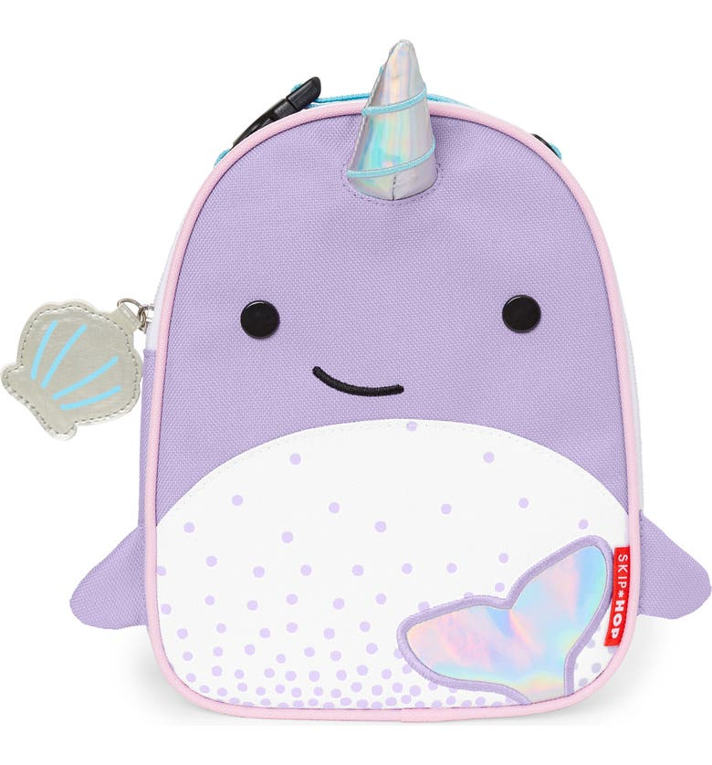 SKIP HOP Zoo Lunchie - Narwhal Insulated Lunch Bag, Main, color, 530