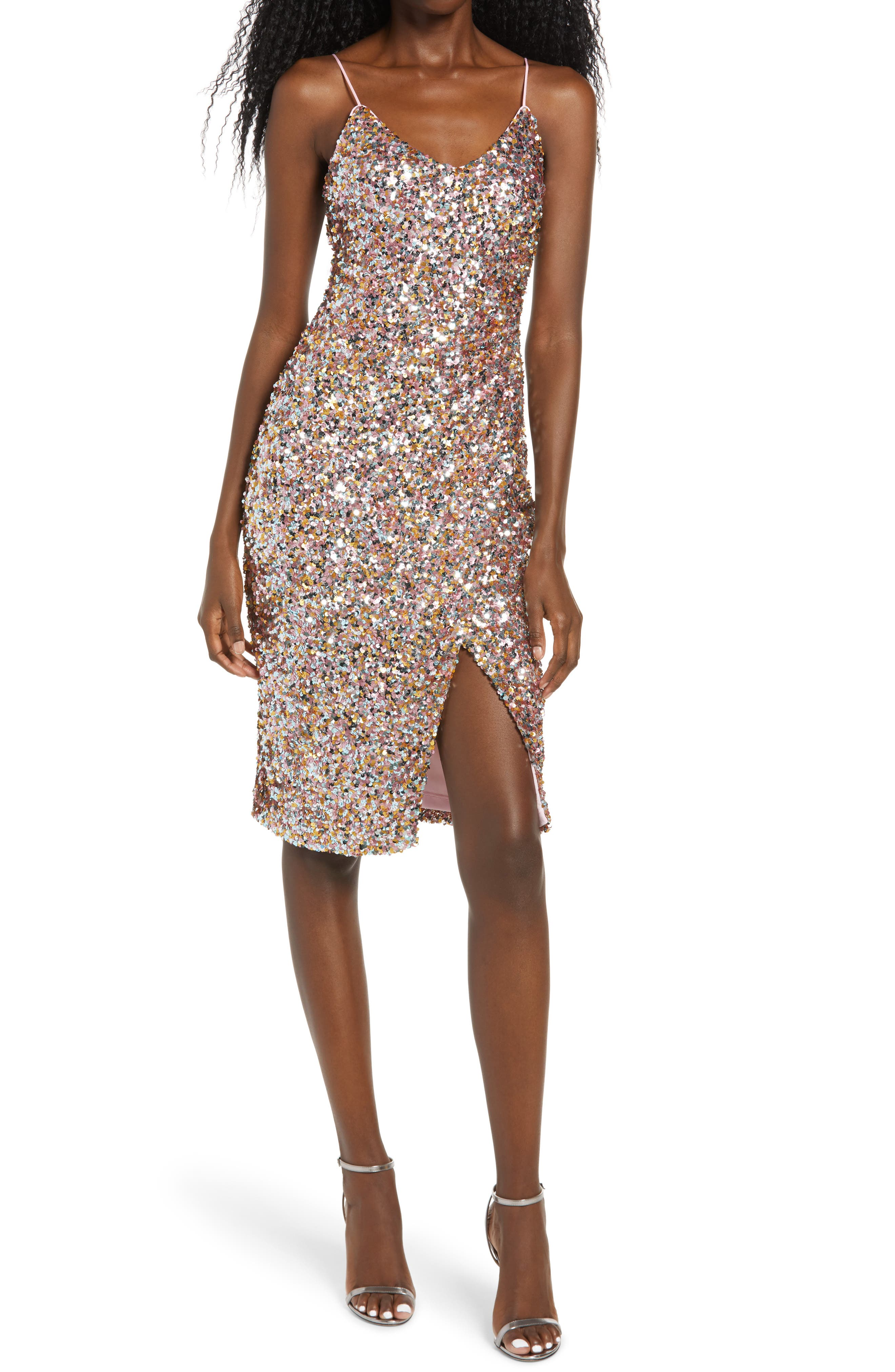 Bowery Sequin Sleeveless Sheath Dress