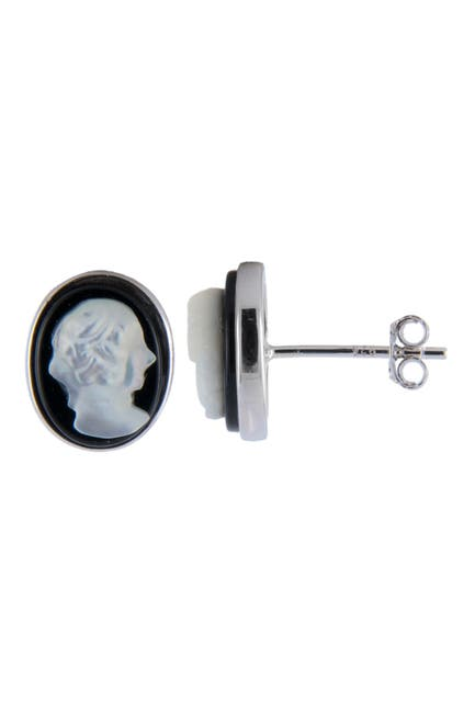 Image of Splendid Pearls Mother of Pearl Cameo Earrings