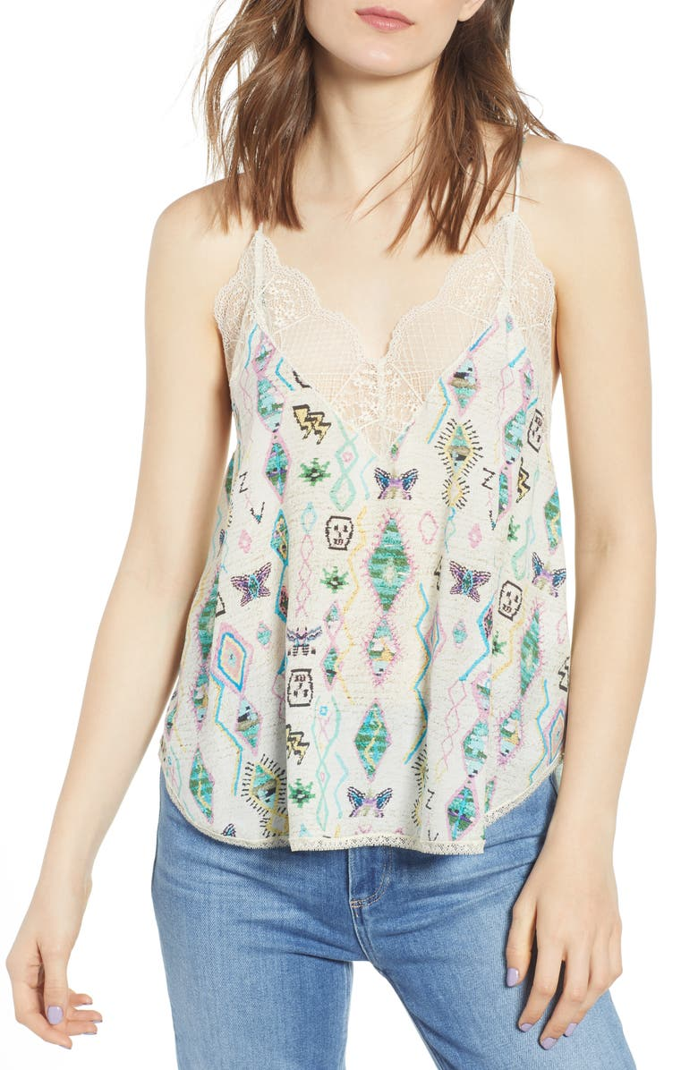 ZADIG & VOLTAIRE Christy Lace Camisole, Main, color, 900
