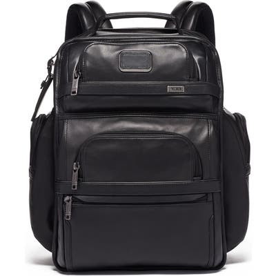 Tumi Alpha 3 Collection Leather Laptop Brief Pack - Black