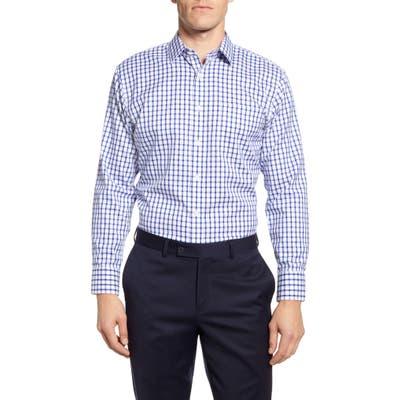 Nordstrom Shop Smartcare Trim Fit Plaid Dress Shirt - Blue